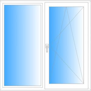 Окно 2 створки 1440/1420 мм