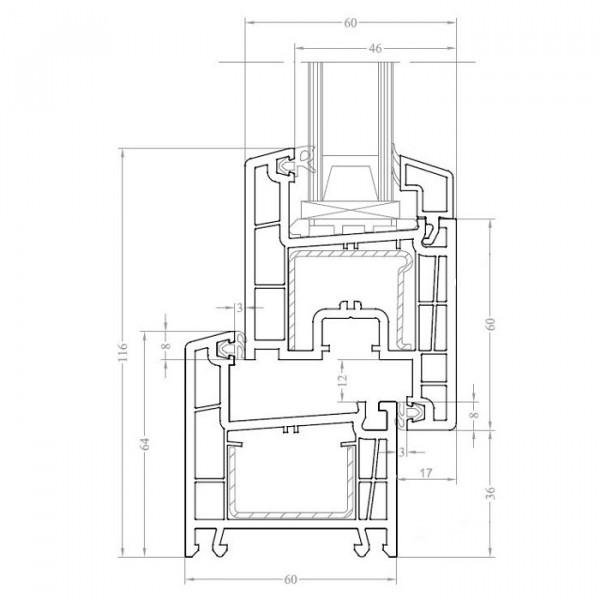 Схема профиля Brusbox 60-4