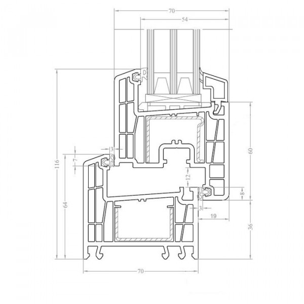 Схема профиля Brusbox 70-6