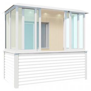Внутренняя отделка балкона 2.8 метра